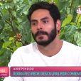 No 'Mais Você', Rodolffo confessou esperar eliminação do 'BBB 21' à Ana Maria Braga