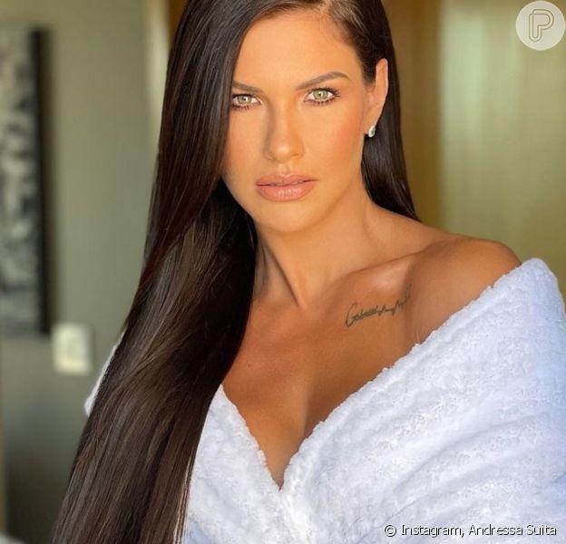 Cabelo ultralongo! Andressa Suita surge com mega hair poderoso: 'Kim Kardashian está chorando'
