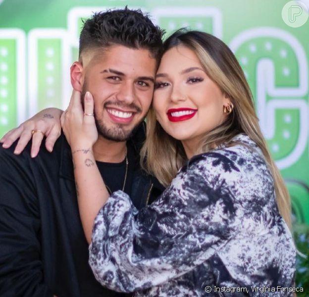 Virgínia Fonseca comemora aniversário de Zé Felipe com nova foto aos 8 meses de gravidez