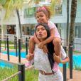 Pocah é mãe de Vitória, fruto de seu relacionamento com o MC Roba Cena