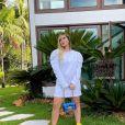 Vestido de Virgínia Fonseca em ensaio deixa lingerie e barriga de gravidez à mostra