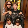 Giovanna Antonelli é mãe de Pietro, de 7 anos, e das gêmeas Sofia e Antônia, de 2 anos