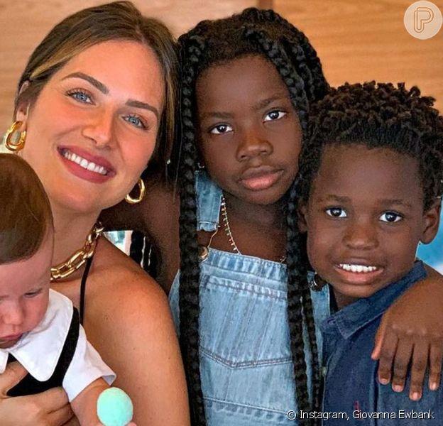 Giovanna Ewbank comemou a montar o quarto dos filhos, em Portugal