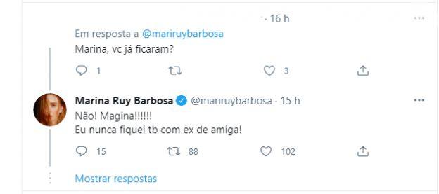 Marina Ruy Barbosa respondeu sobre Neymar a internauta