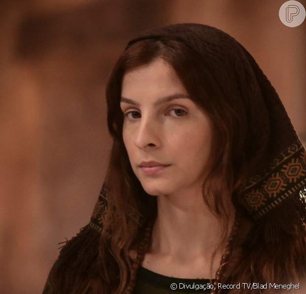 Novela 'Gênesis': Lia (Michelle Batista) vai se decepcionar com Jacó (Miguel Coelho), seu marido, ao descobrir que ele se casará com Raquel (Thais Melchior)