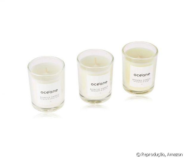 Kit 3 velas aromáticas Océane