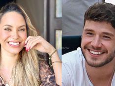 Sarah Andrade e Lucas Viana aparecem aos beijos no sofá. Veja!