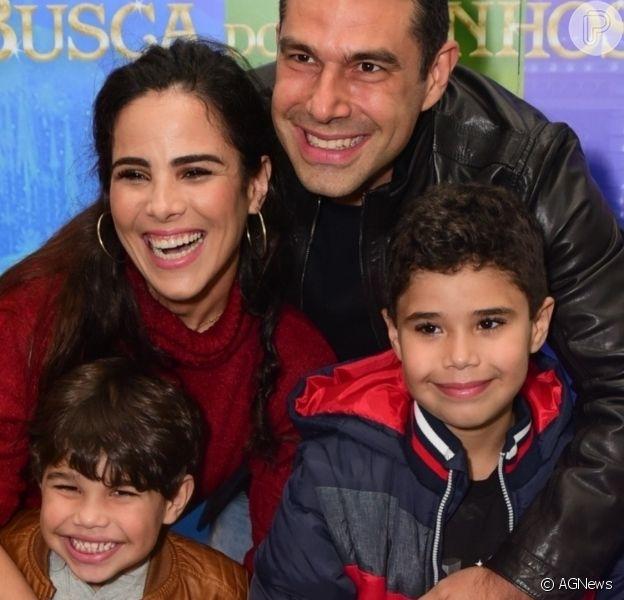 Filhos de Wanessa Camargo foram comparados ao pai, Marcus Buaiz, em foto do aniversário do empresário: 'Xerox'