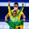 Eliana vibrou com Rebeca Andrade ganhando o ouro no salto na ginástica artística feminina na Olimpíada de Tóquio: 'Fazendo história!'