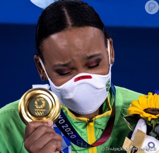 Rebeca Andrade emocionou famosos ao ganhar o ouro no salto na ginástica artística feminina na Olimpíada de Tóquio