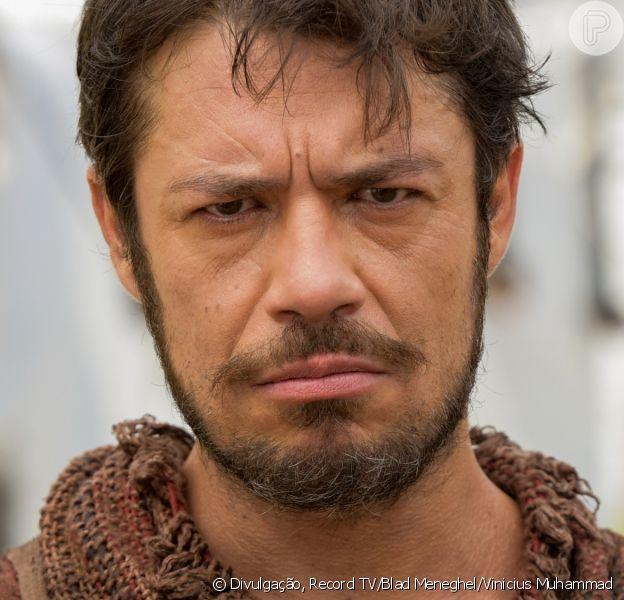 Novela 'Gênesis': Simeão (Igor Cotrim) cobra atitude de Rúben (Felipe Cunha) sobre José (Juliano Laham) após fala de Lúcifer (Igor Rickli)