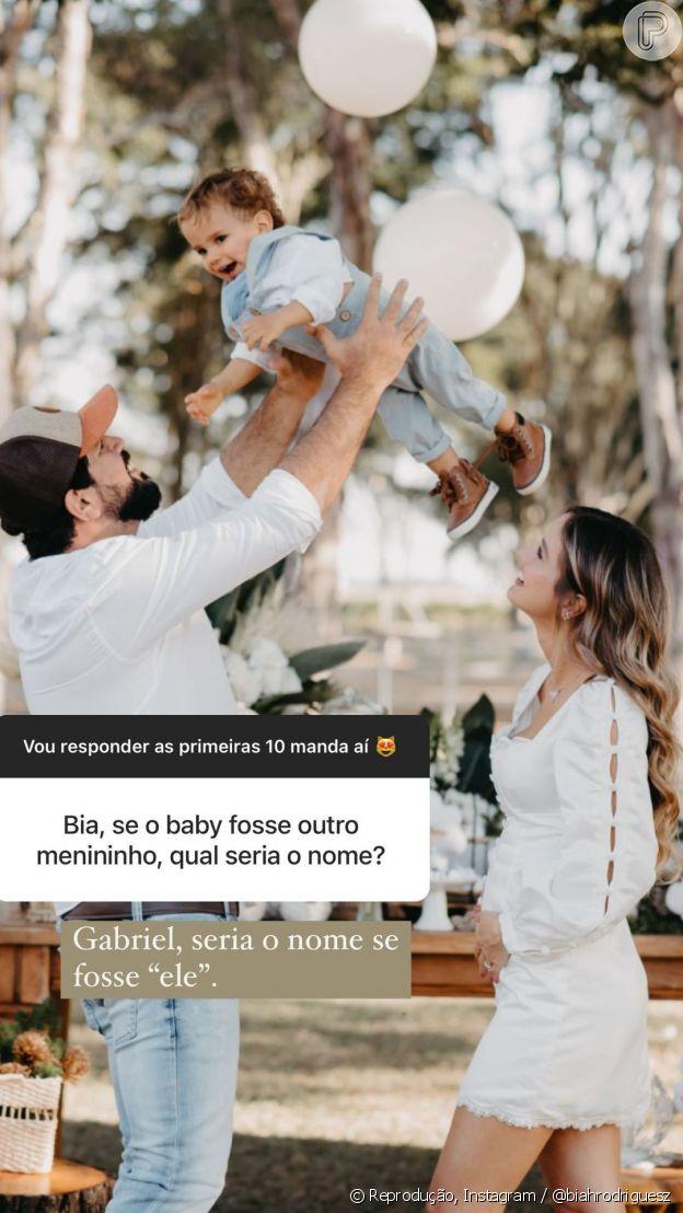 Biah revela que nome daria ao filho se estivesse grávida de outro menino