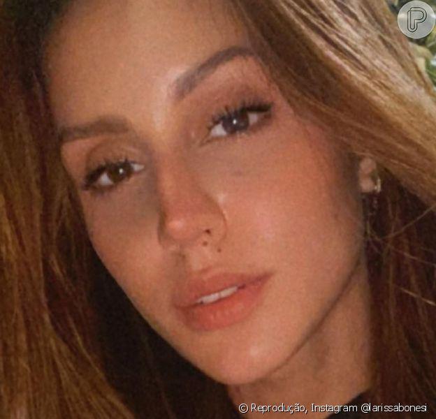 Larissa Bonesi negou que foi pivô da separação de Caio Castro e Grazi Massafera