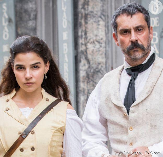 Novela 'Nos Tempos do Imperador' tem Pilar (Gabriela Medvedovski) propondo casamento a Tonico (Alexandre Nero)