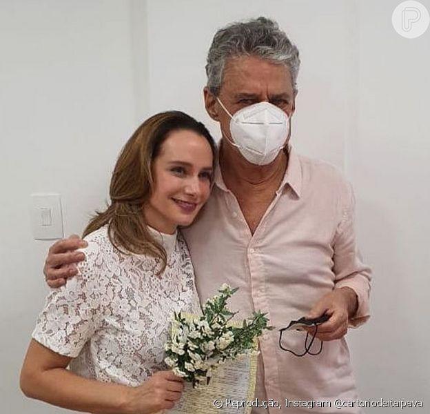 Chico Buarque e Carol Proner se casaram em Itaipava, no Rio de Janeiro
