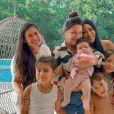 Filhos de Simaria Giovanna, de 9 anos e Pawel, de 6, apresentam boa relação com os primos, filhos de Simone