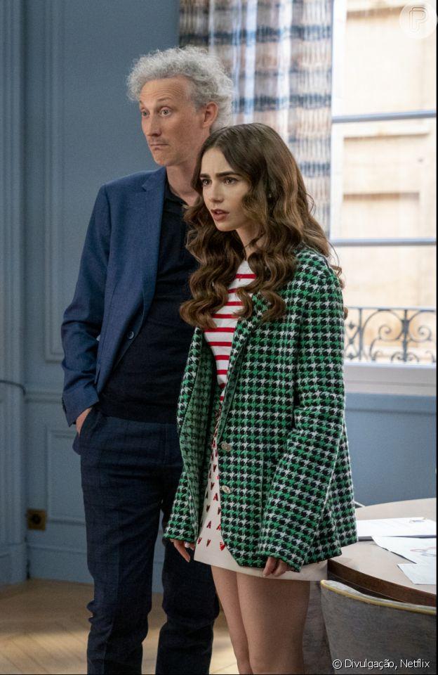 'Emily in Paris 2': Lilly Collins usa blazer da marca Barriel em cena