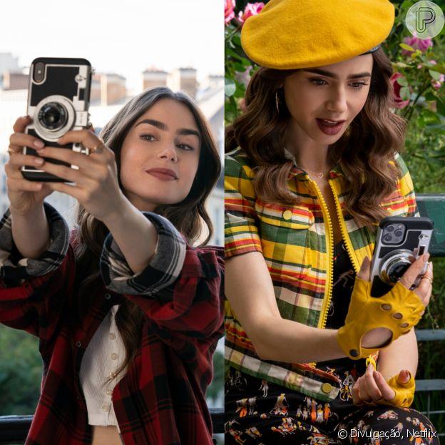 'Emily In Paris 2': protagonista mudou modelo de celular, mas manteve capinha de celular