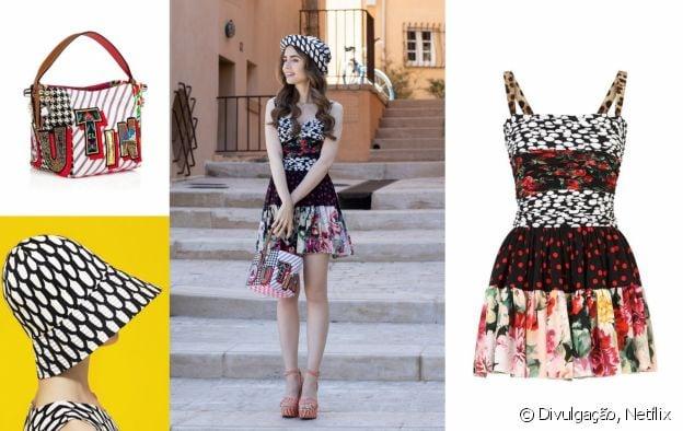 Look de Emily com vestido Dolce & Gabbana