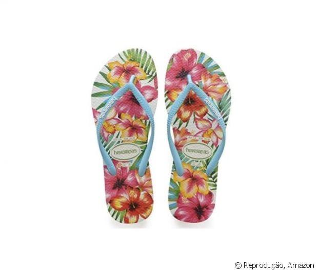 Chinelo Havaianas Slim Hibisco Feminino