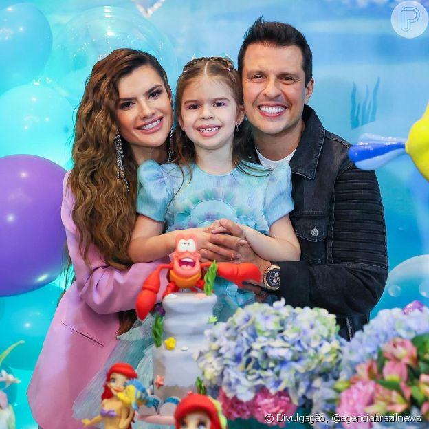 Filha de Mirella Santos e Ceará completou 7 anos e ganhou festa temática dos pais