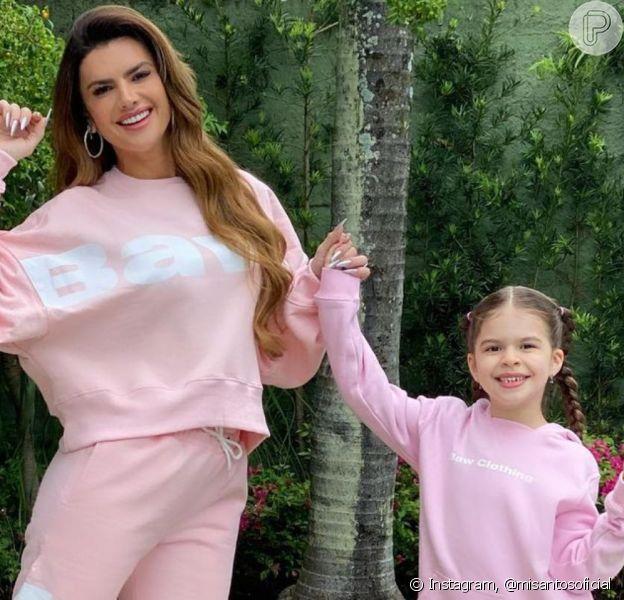 Mirella Santos postou fotos com a filha e tamanho de Valentina surpreendeu os fãs da modelo