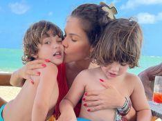 Foto de Andressa Suita com filhos chama atenção na web: 'Como eles estão grandes'