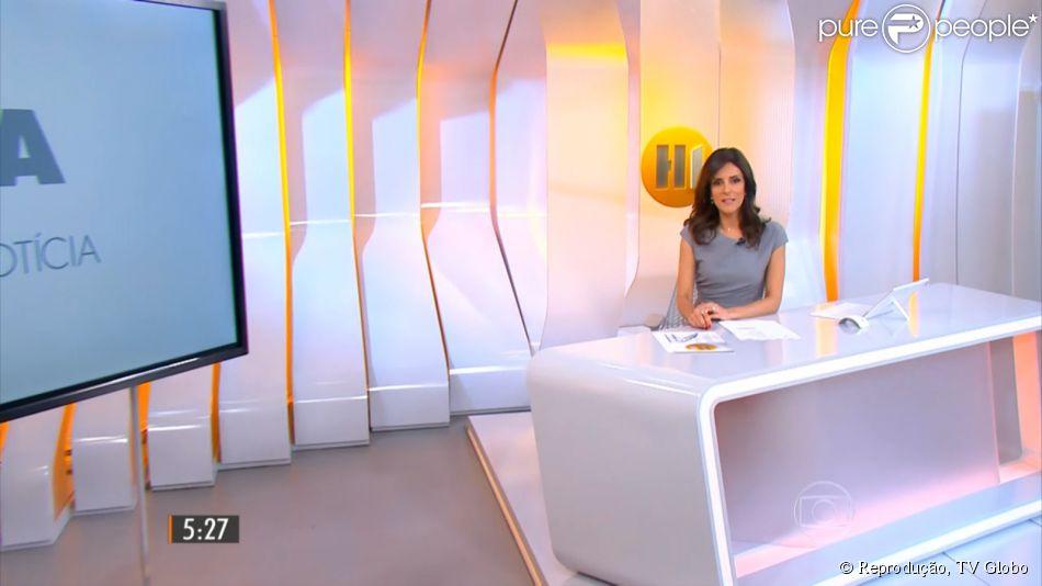 Monalisa Perrone é elogiada na estreia do programa 'Hora Um da Notícia', em 1° de dezembro de 2014: 'Muito gata essa apresentadora'