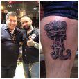Leandro Hassum fez tatuagem na perna após cirurgia bariátrica