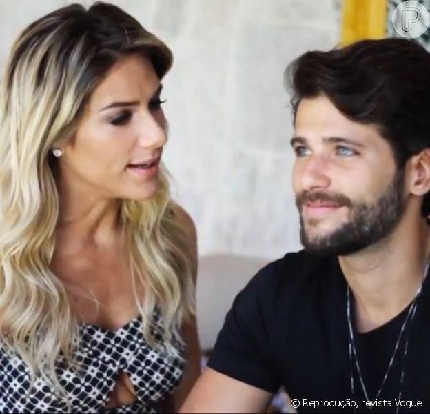 Giovanna Ewbank contou em entrevista ao jornal 'O Globo' desta sexta-feira, 19 de dezembro de 2014, que algumas vezes se assusta com Bruno Gagliasso na série 'Dupla Identidade'