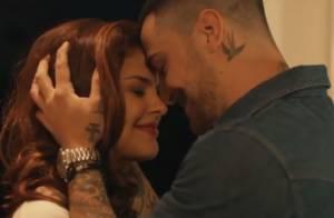 Paloma Bernardi e Felipe Titto vivem par romântico em clipe de banda de rock