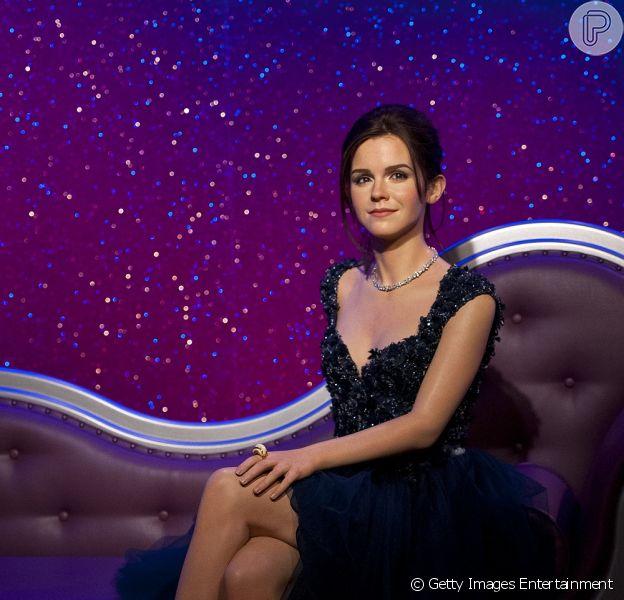 Emma Watson ganhou uma estátua no museu de cera Madame Tussauds, em Londres, na Inglaterra, nesta terça-feira, 26 de março de 2013