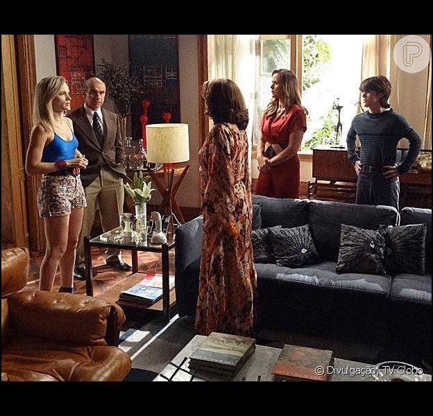 Desmascarada, Vitória (Bianca Bin) reúne a família para contar que sua doença letal é uma farsa, em 'Boogie Oogie', em 05 de janeiro de 2015