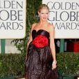 Heidi Klum também arrasou no Globo de Ouro 2009. Ela usou um vestido James Galanos na premiação