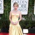 Christina Applegate usou este lindo vestido tomara-que-caia da grife Roberto Cavalli no Globo de Ouro 2010