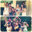 Kayky Brito mostra a nova namorada, a modelo Raian Rodovalho, durante reunião em família no domingo de Páscoa. A foto foi publicada pela irmã do ator, Sthefany Brito, em sua conta do Instagram, em 31 de março de 2013