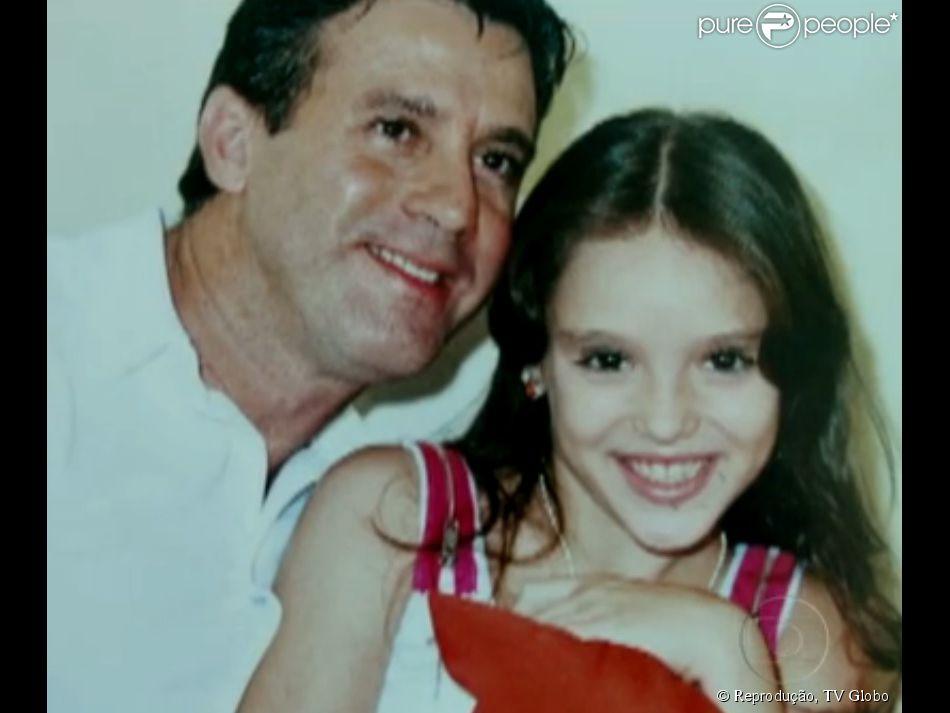 Isabelle Drummond perdeu o pai em 2007. Fernando Luiz foi baleado em tentativa de assalto