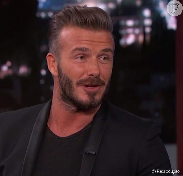 David Beckham revela cotidiano dos filhos e brinca: 'Para ser honesto, me tornei o taxista das crianças', afirmou ele em entrevista ao programa 'Jimmy Kimmel Live', nesta quinta-feira, 29 de janeiro de 2015