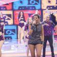 Ludmilla também cantou seus sucessos no programa de Sabrina Sato
