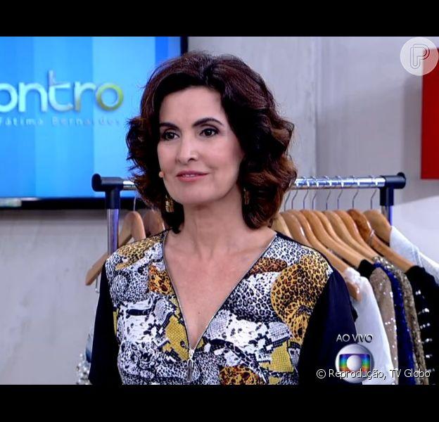 Fátima Bernardes diz que faz unha e arruma o cabelo sozinha, mas pondera: 'Cortar, não'. Jornalista conversava no 'Encontro' sobre vaidade no programa desta segunda-feira, 9 de fevereiro de 2015