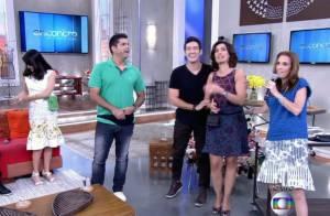 Fátima Bernardes usa pochete no programa 'Encontro' e aprova visual: 'Gostei'