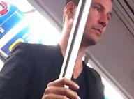 Keanu Reeves, de 'Constantine', anda de metrô nos EUA e cede lugar para mulher