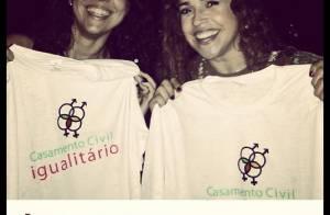 Daniela Mercury e Malu posam para campanha a favor do casamento igualitário