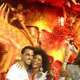 A atriz Erika Januza curtiu a noite no camarote da revista 'Quem' ao lado do novo namorado, o paulista Eduardo Alves: 'O importei de São Paulo'