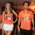 Solteiro desde o fim do casamento com Fiorella Mattheis, em setembro de 2014, Flavio Canto também teria investido em Juliana Paiva em um camarote em Salvador