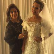 Fernanda Souza chega à igreja para se casar com Thiaguinho. Veja o vestido!