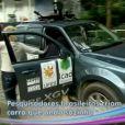 Ana Maria Braga é atropelada por um carro robô durante a apresentação do programa 'Mais Você', em 22 de abril de 2013