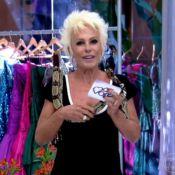 Ana Maria Braga apresenta 'Mais Você' com cobra enrolada no pescoço