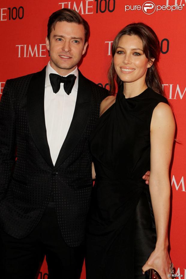 Justin Timberlake e Jessica Biel participaram da festa da revista 'Time', em Nova York, em 23 de abril de 2013