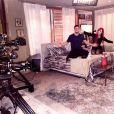 A atriz Josie Pessôa registrou uma das cenas finais do casal #LucaDu em 'Império'. 'Nosso último dia de gravação no quarto dele que virou nosso quarto!'
